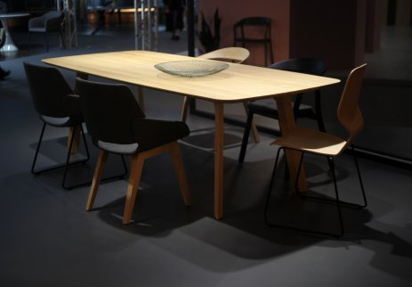 Prostoria, table and chairs, Hall 3, 2018.